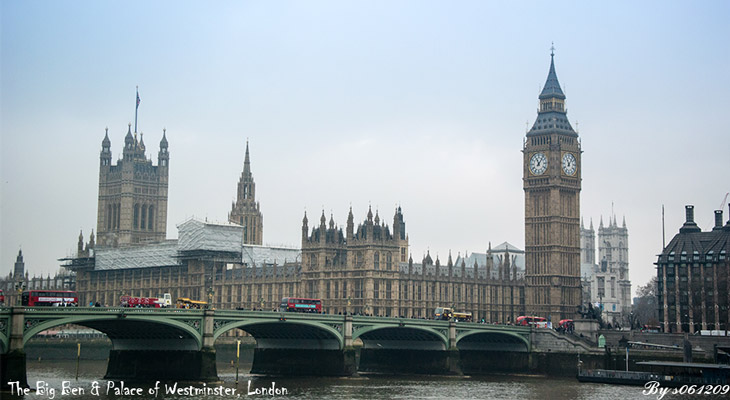 The Big Ben & Palace of Westminster,London