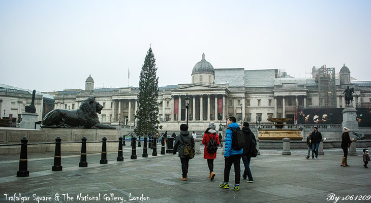Trafalgar Square & The National Gallery,London